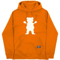 bluza GRIZZLY - Og Bear Youth Hoodie Safety Orange/White (SOWH)