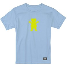 koszulka GRIZZLY - Og Bear S/S Baby Blue/Neon Yellow (BBNY)