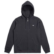 bluza BRIXTON - Trig Zip Hood Fleece Black (BLACK)