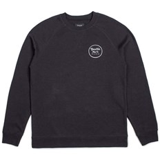 bluza BRIXTON - Wheeler Crew Fleece Black/White (BKWHT)