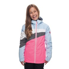 kurtka 686 - Girls Ray Insl Jkt Ice Blue Clrblk (ICBL)