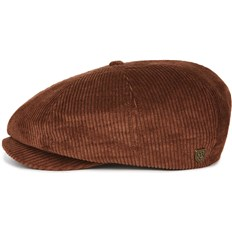 BRIXTON - Brood Snap Cap Brown Cord (BRCRD)