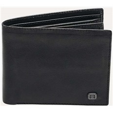 portfel REELL - Button Leather Black Black (Black )