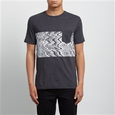 koszulka VOLCOM - Lofi Hth Ss Heather Black (HBK)
